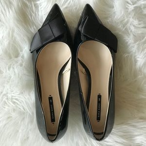 Black Bow Zara kitten heels